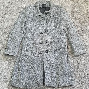 East 5th Button Front Wool Peacoat
